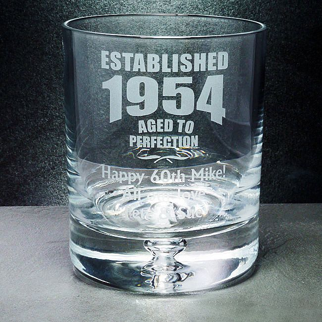 Aged To Perfection Whisky Glass Personalised Ref Atpcw