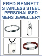 Personalised Fred Bennett Mens Jewellery