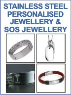 Personalised SOS Bracelets and Pendants