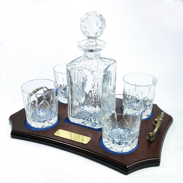 Crystal Decanter Set Ref Cdt4 Personalised Engraved