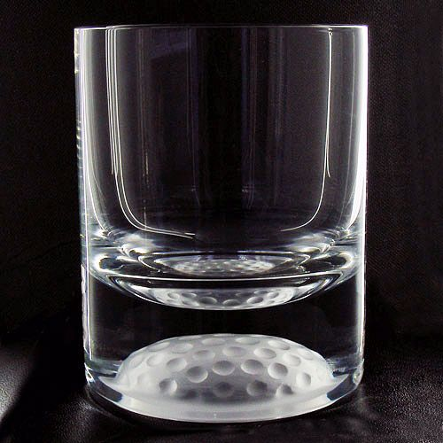 Golf Ball Whisky Tumbler Personalised Ref Gbwt