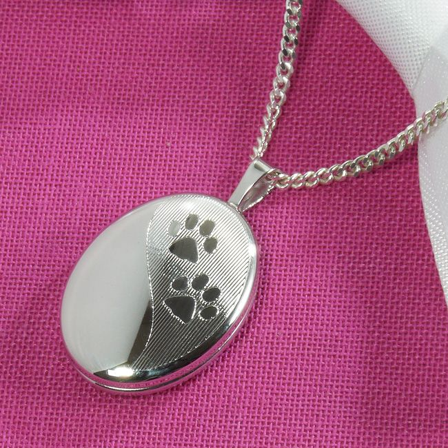 s is necklace dog pendant lockets new charm paw silver loading sterling itm print cat image