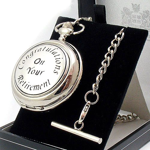 Retirement Pocket Watch Skeleton Mechanical Personalised