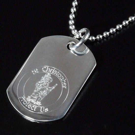 St christopher dog tag pendant silver personalised engraved ref dtsc2 st christopher dog tag pendant silver personalised engraved ref dtsc2 mozeypictures Image collections